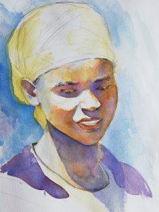 Портрет африканки