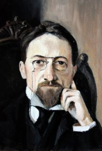 Anton Chekhov by Osip Braz. A Copy