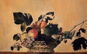 Basket of Fruit by Caravaggio. A Copy