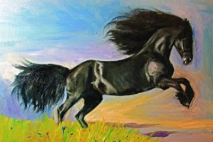 Фризийский конь