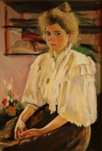 María Lvov por Valentín Serov. Una copia
