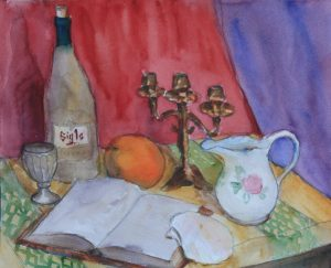 Still Life with a Bottle and a Candlestick